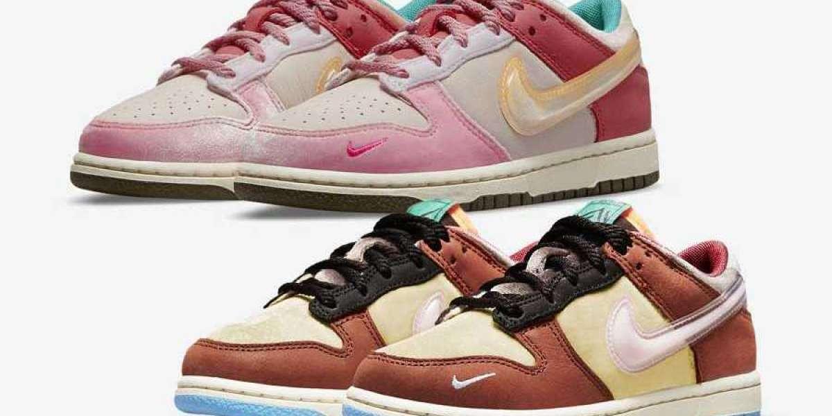 Social Status x Nike Dunk Low Light Soft DM3350-600/DM3350-700 Hot Sell !